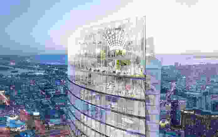 Proposed Crown Queensbridge Tower designed by Wilkinson Eyre.