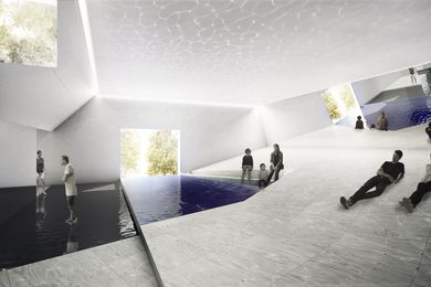 The Pool exhibition proposal for 2016 Venice Architecture Biennale by Aileen Sage and Michelle Tabet.