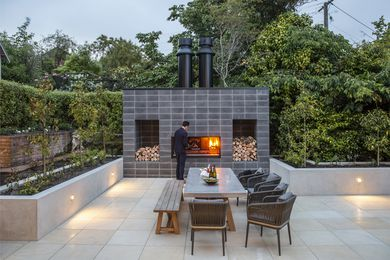 Escea's latest outdoor wood cooking fireplace, the EK Series Fireplace Kitchen.
