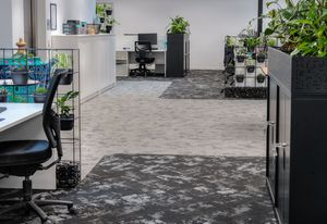T2's new corporate office features Ecosoft carpet tiles.