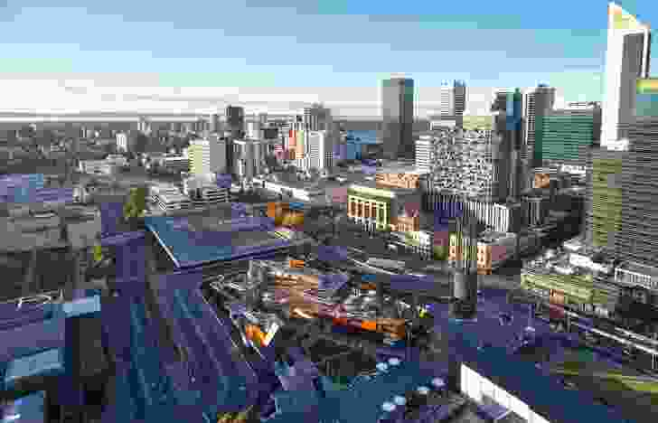 Yagan Square is part of a major City Link redevelopment plan that aims to connect the previously disconnected Perth CBD with Northbridge over the sunken railway line.