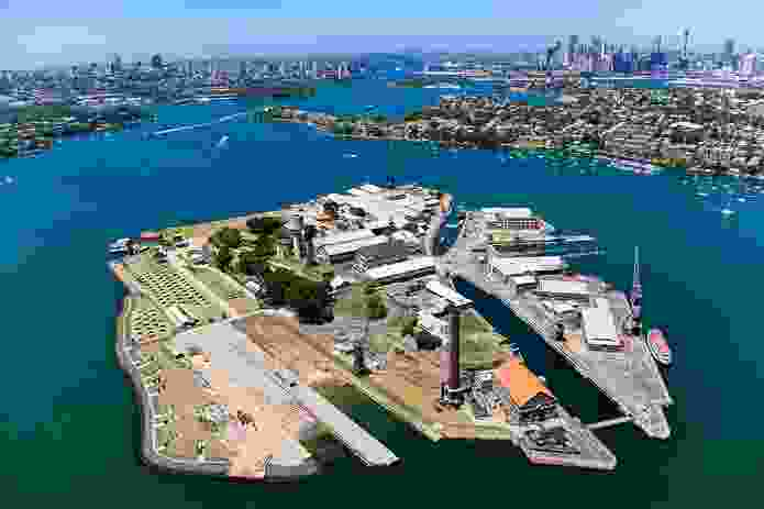 Cockatoo Island, the largest island in Sydney Harbour.