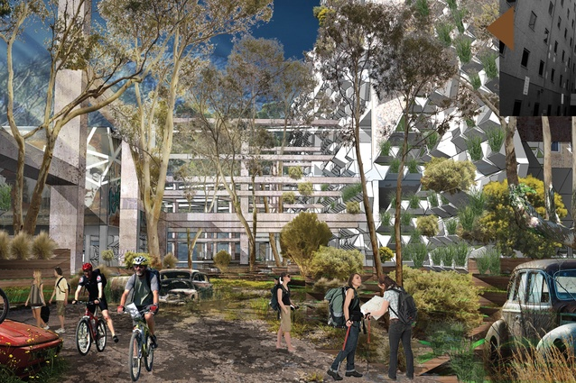 """""""Invasion of Nature"""" at the Royal Adelaide Hospital site by Vu Ngoc Hung."""