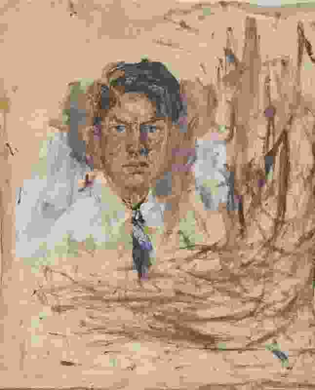 Self portrait by Arthur Boyd. 1935, oil on canvas.