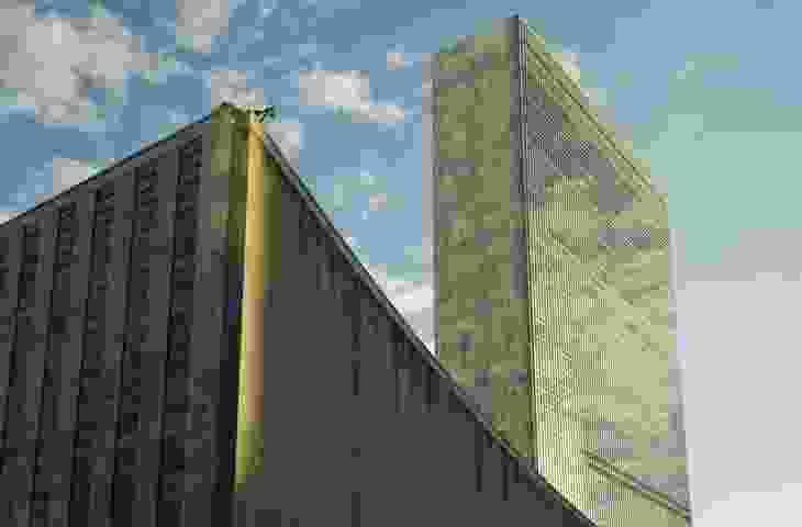 UN Secretariat building by Oscar Niemeyer, Le Corbusier, Wallace Harrison, and others.