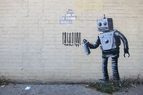 """Our computers could soon become intelligent enough to perform creative tasks. Artwork from Banksy's """"Better Out Than In"""" October 2013 New York City residency."""