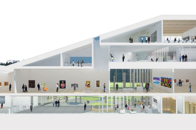 Lyons Architecture's design for the new Shepparton Art Museum.