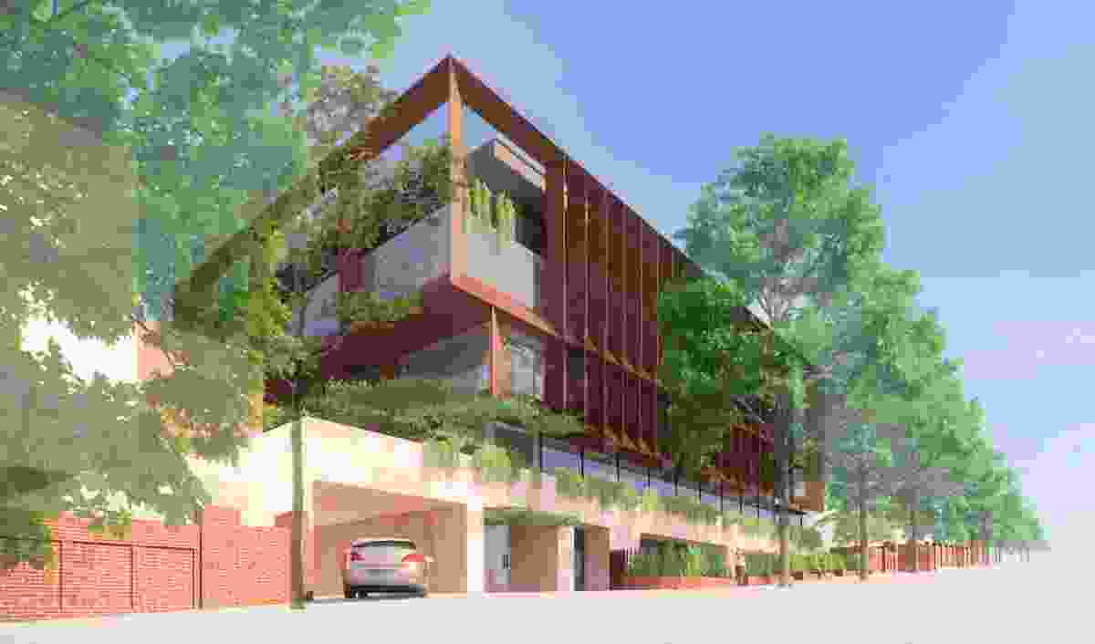 The proposed Scientia Project at Monte Sant'Angelo Mercy College by Hayball.