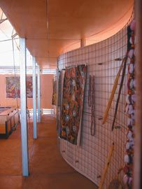 Gallery space displaying works from the Patjarr Community and other surrounding Aboriginal communities.