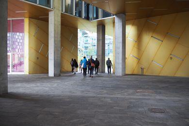 The Dulux Study Tour participants in Ørestad, Copenhagen.