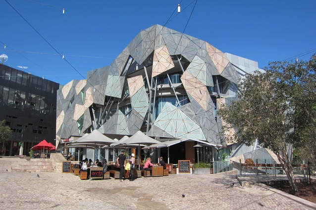 The existing Yarra Building at Federation Square by Lab Architecture Studio and Bates Smart.