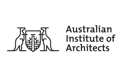 The logo of the Australian Institute of Architects.