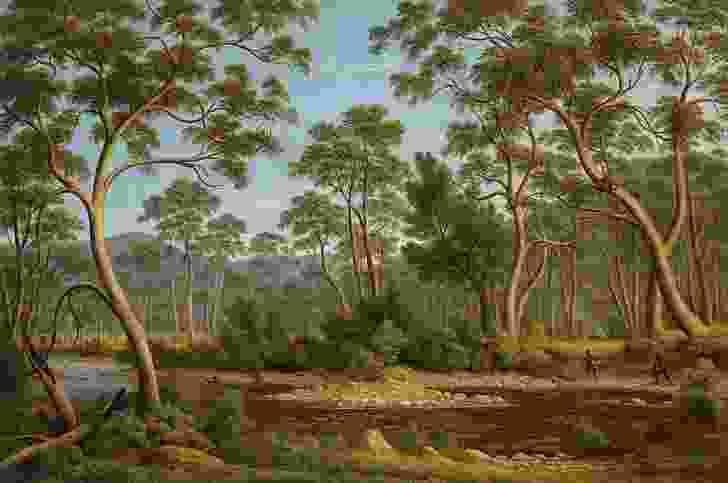 John Glover, The River Nile, Van Diemen's Land, from Mr Glover's farm, 1837. National Gallery of Victoria, Melbourne. Felton Bequest, 1956