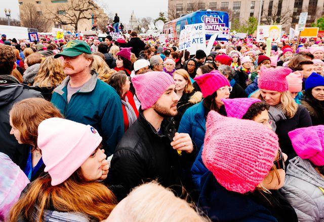A scene from the Women's March on Washington, Washington DC, January 2017.