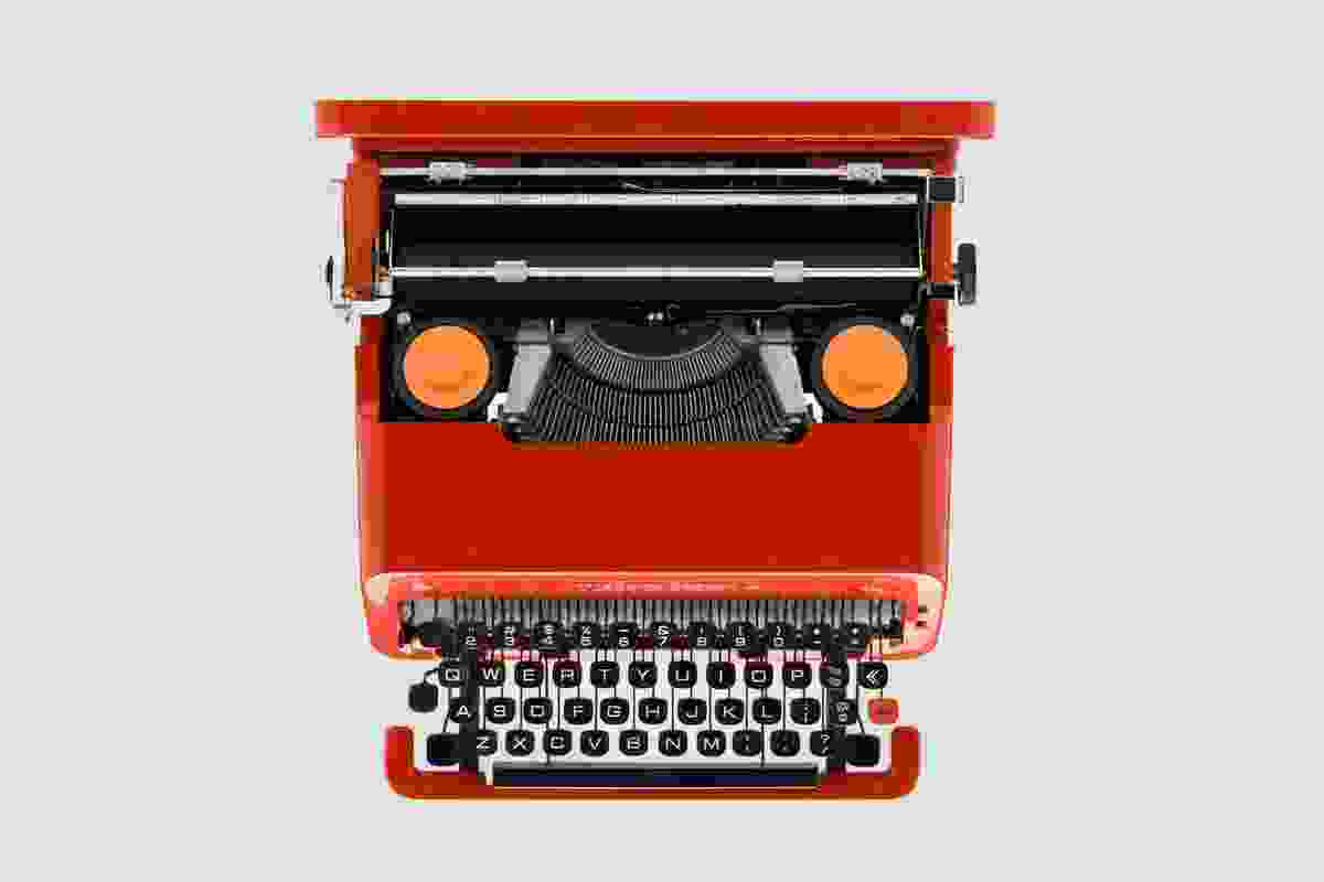 The 1969 Olivetti Valentine typewriter, designed by Ettore Sottsass and Perry King.
