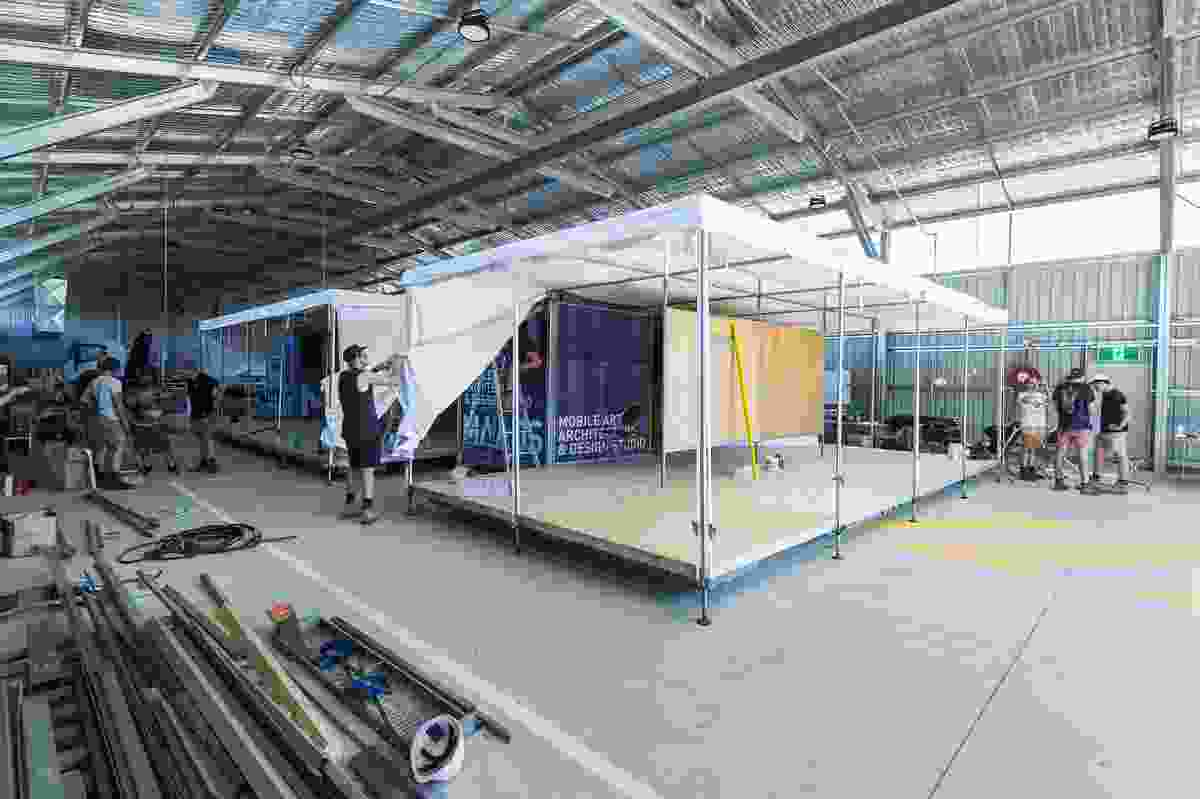 UniSA Mobile Art Architecture and Design Studio (MAADS) by Design Construct, School of Art, Architecture and Design, University of South Australia.
