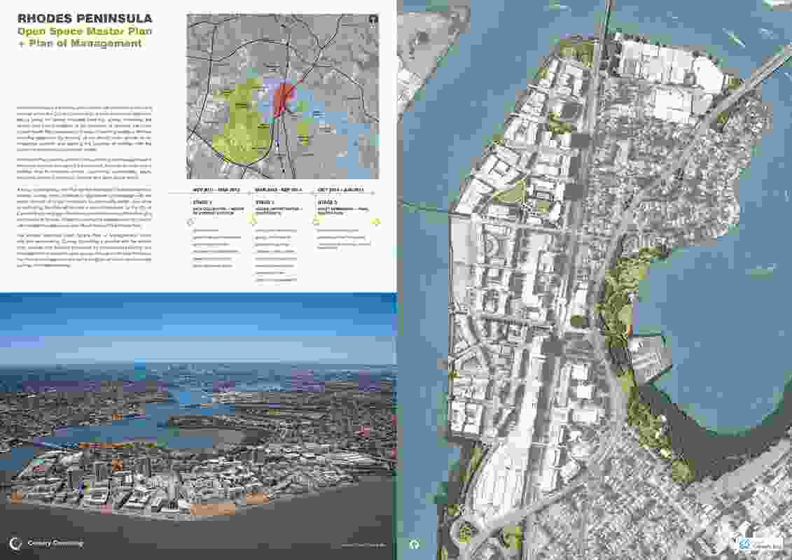 Rhodes Peninsula Open Space Master Plan & Plan of Management by Corkery Consulting.