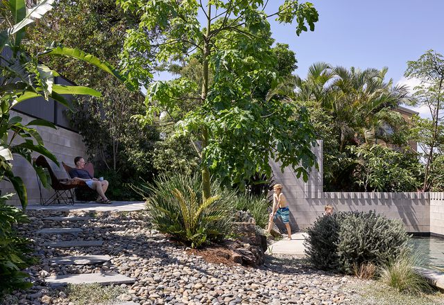Whynot St Pool and Carport by Kieron Gait Architects and Dan Young Landscape Architect, winner of the Garden or Landscape category at the 2019 Houses Awards.
