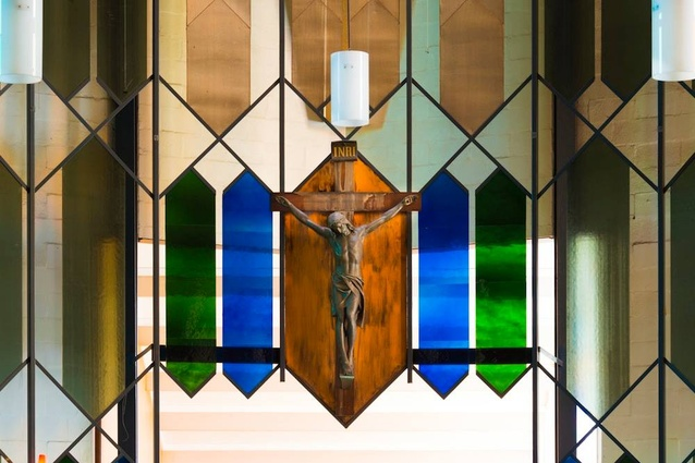 Sanctuary screen, Mary Immaculate Church.