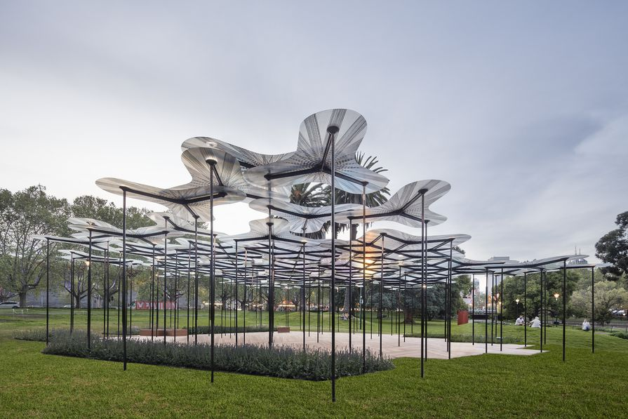 The 2015 MPavilion designed by Amanda Levete Architects.