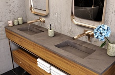 Corian multi-basin Washplanes lend a personal touch to public bathrooms