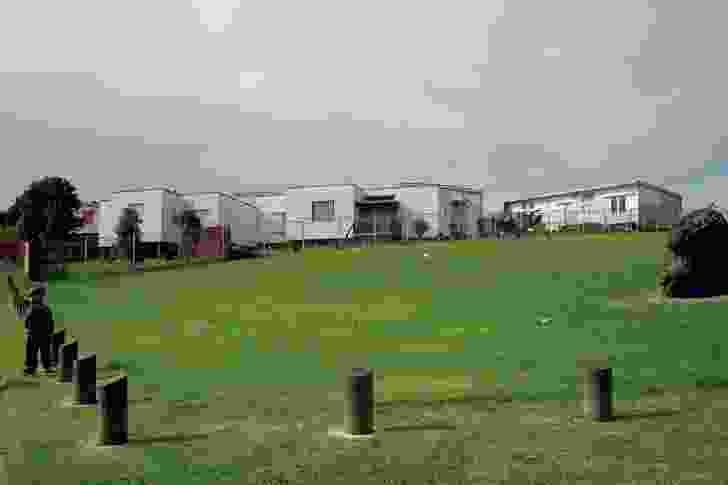 The undulating terraced Wiri State Housing precinct, built as an urban papakāinga (village; 1986–89).