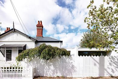 The existing house, an Edwardian weatherboard, has been remodelled as a private family wing.