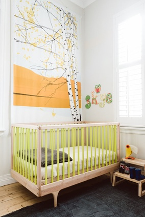 The colour palette of the house, including the children's bedroom, is neutral but experimental.