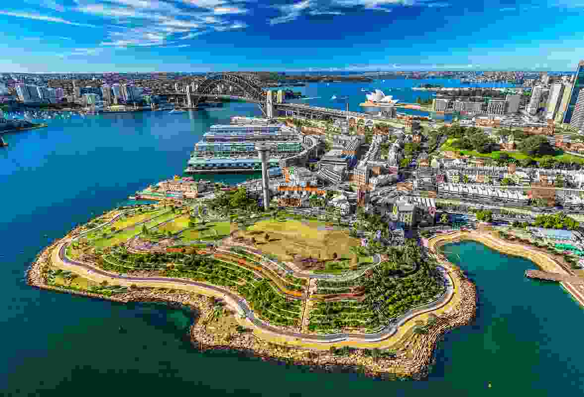 Barangaroo Reserve by Peter Walker and Partners Landscape Architecture and Johnson Pilton Walker Architects and Landscape Architects.