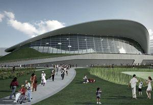 Zaha Hadid Architects' design for the London Aquatics Centre.