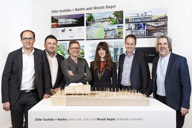 The winning design team of Diller Scofidio and Renfro and Woods Bagot.