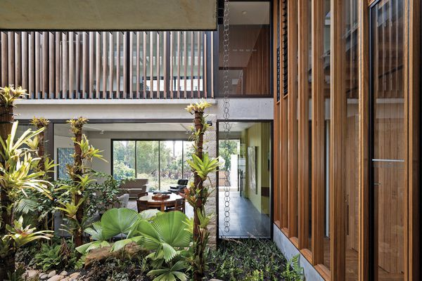 Unlike many Sydney homes, Garden House turns inward and is wrapped around a central courtyard.