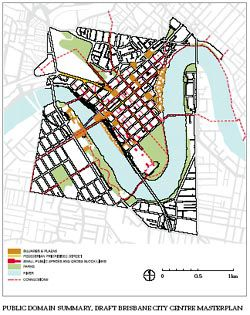 Public domain summary, Draft Brisbane City Centre Masterplan.