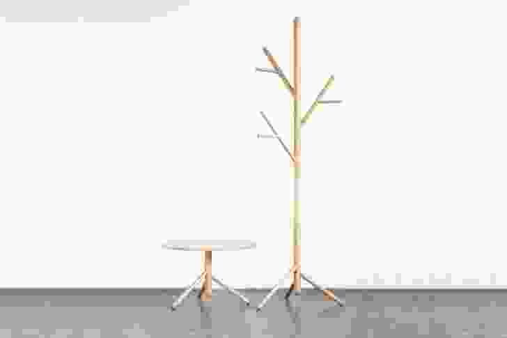 Stem Table and Stem Tree coat stand by Sarah Gibson and Nicholas Karlovasitis.