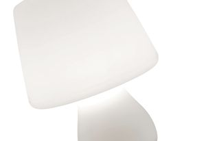 The Mushroom lamp for Ligne Roset gently rocks from side to side until it comes to a rest in its standing position.