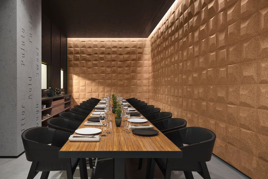 Sustainable Wall Coverings Vertical 3d Cork Architectureau