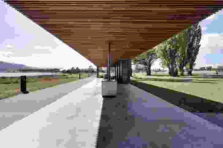 The Glenorchy Art and Sculpture Park (GASP!) pavilion, Hobart.