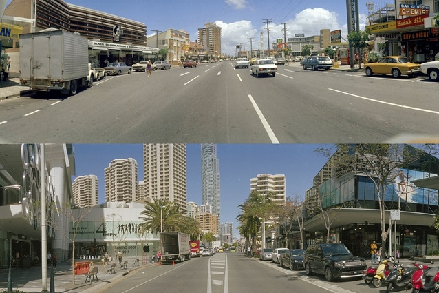 THEN and NOW: Surfers Paradise Boulevard 1973 (top) and 2013 (bottom).