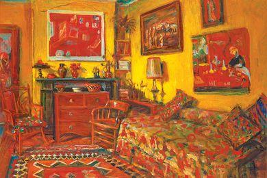 Margaret Olley, Yellow Interior, 1989.