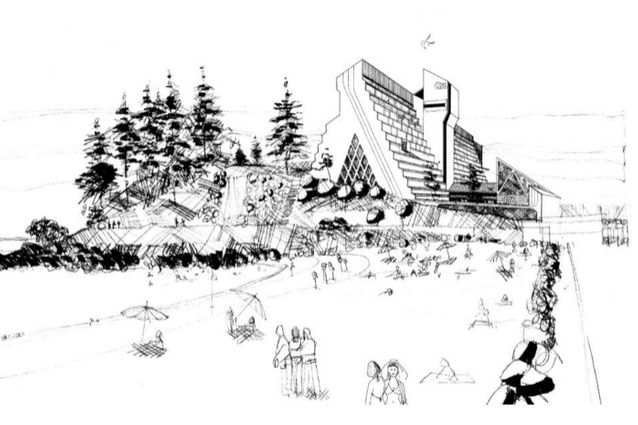 Sketch of Greenmount Beach Hotel by Burling Brown Architects.