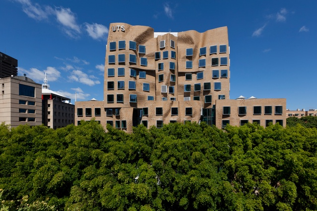 The Dr Chau Chak Wing Building at the University of Technology Sydney by Gehry Partners and LLP.