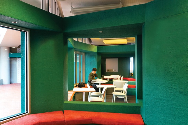 Colour is used to effect changes in mood, signalling spatial shifts in the floor plan.