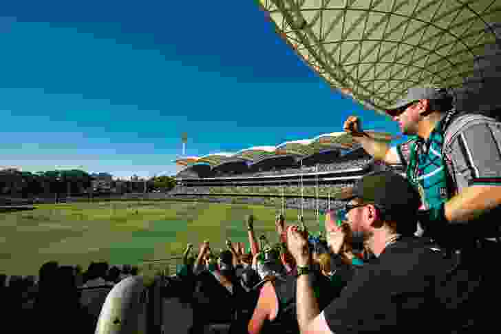 The redevelopment increased seating for sports events from 34,000 to 53,500.