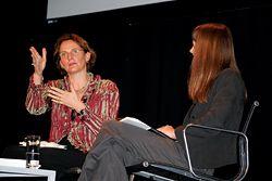 Francine Houben and Rachel Neeson in conversation.