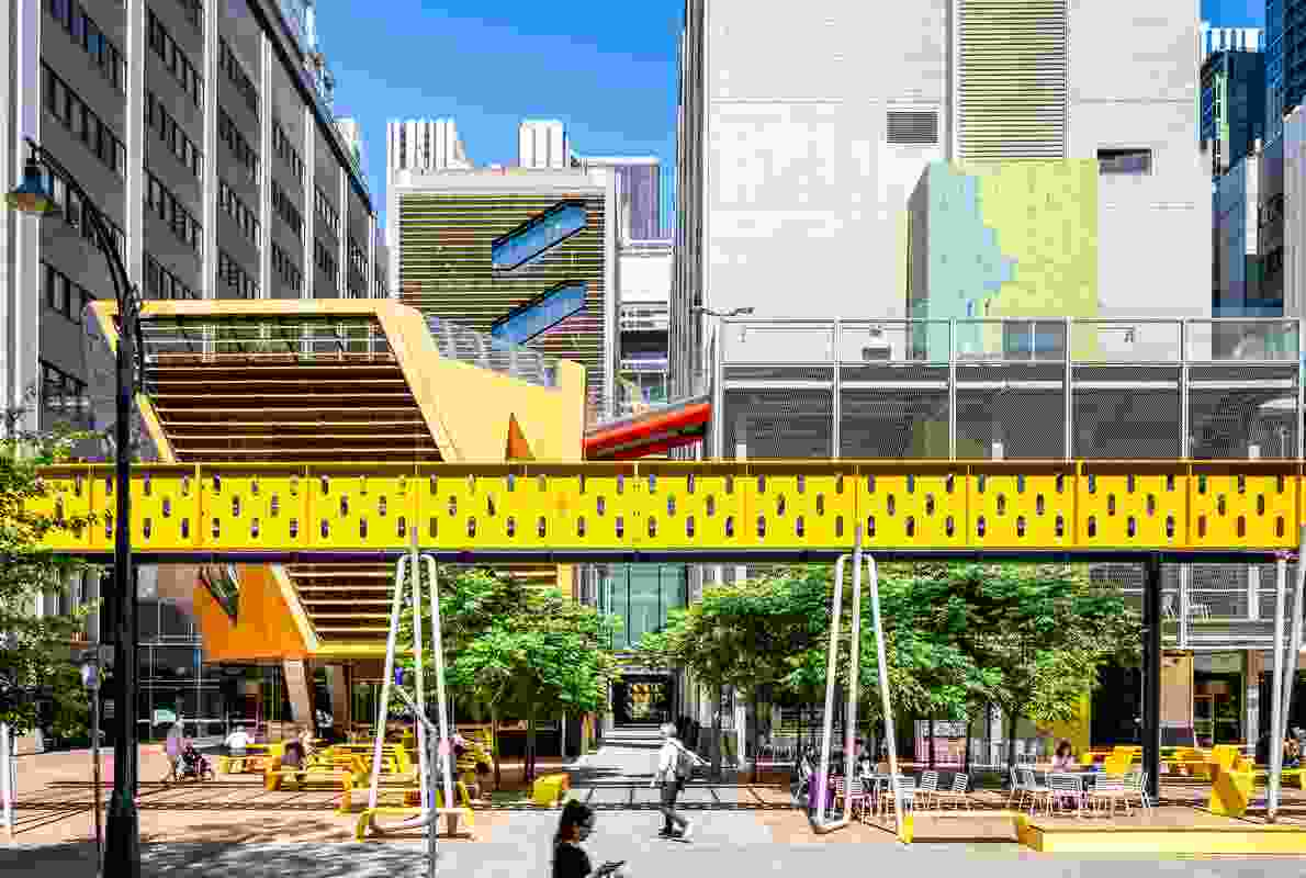 RMIT New Academic Street by TCL won a Landscape Architecture Award in the Civic Landscape category.