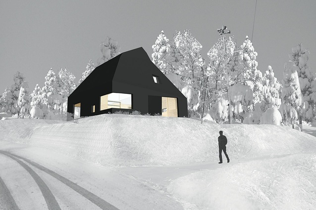 Shortlisted entry by Andrew Burges Architecture for the new Australia House at the Echigo-Tsumari Art Triennale in Japan.