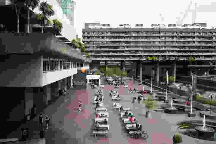 Public space in the Barbican complex, by Chamberlin, Powell and Bon.