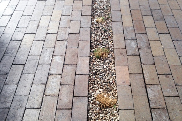 A clever integration of planting and paving.