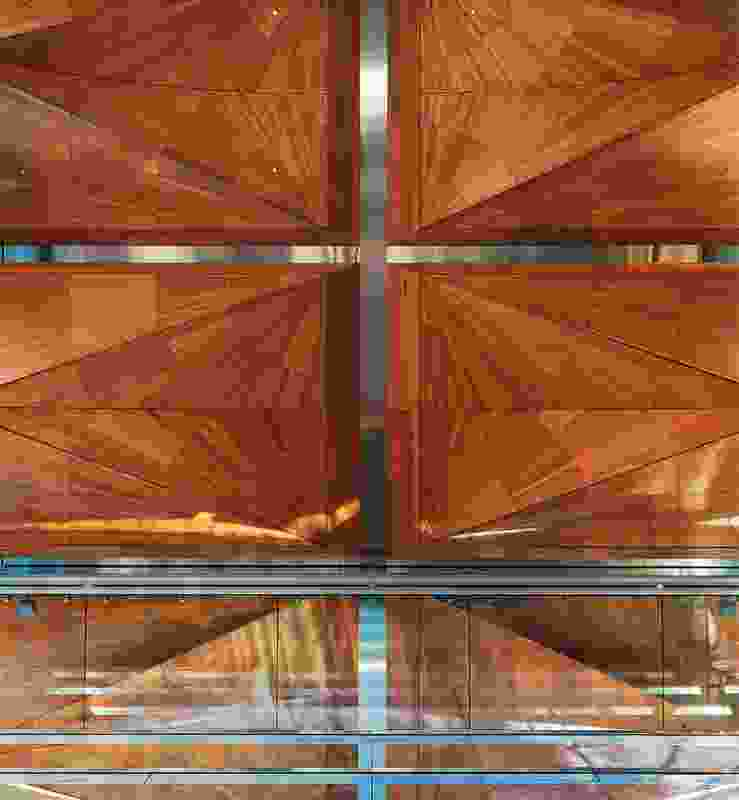The ceilings of the canopies are assembled from carefully selected Kauri.