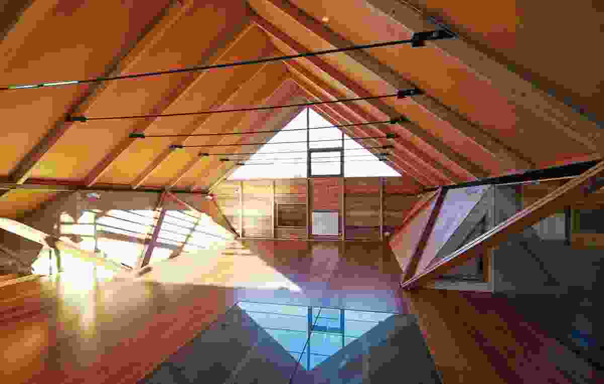 The large attic space can accommodate extra beds or a space for games and movies.